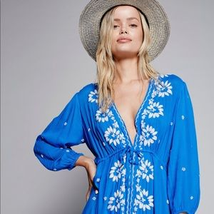 Free People Embroidered Fable Midi Dress